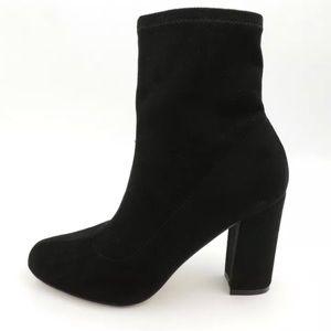 Madden Girl FANTAYSA Black Boots Fashion Heel 6.5